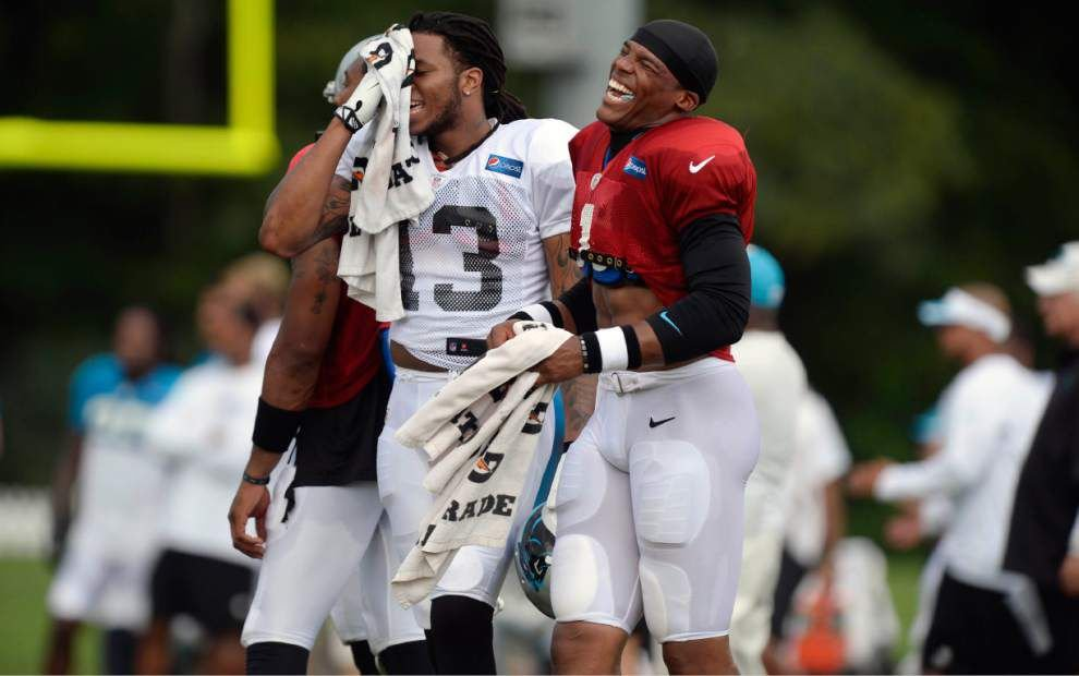 Carolina QB Cam Newton forming strong bond with WR Kelvin Benjamin _lowres