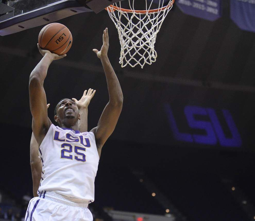 Monday's win over College of Charleston was a block party for LSU's Jordan Mickey _lowres