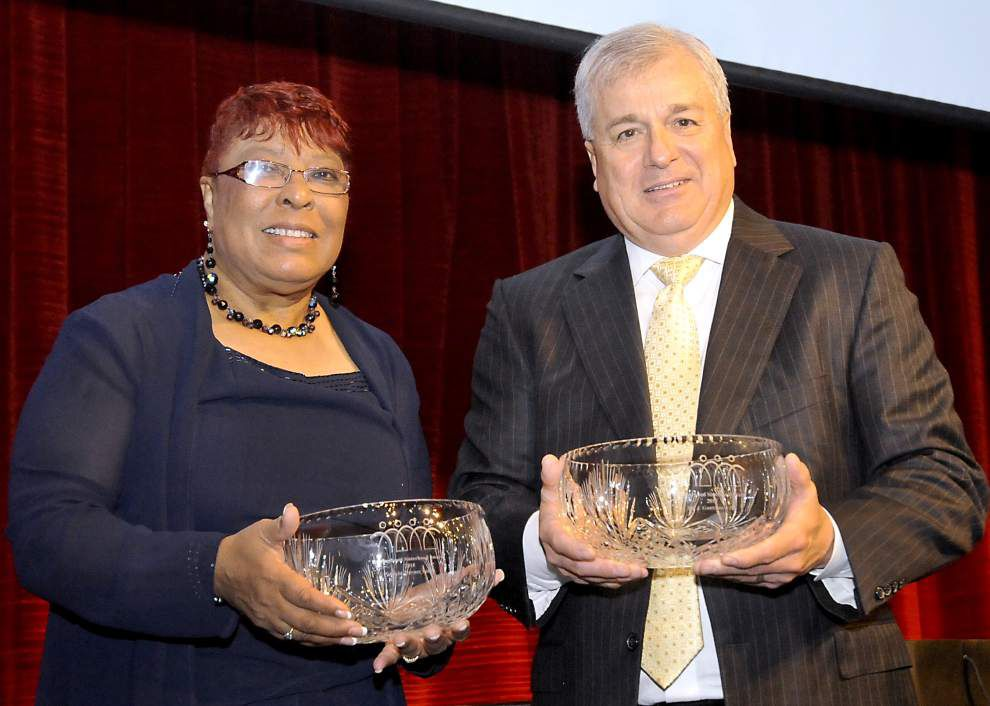 East Baton Rouge Sheriff Sid Gautreaux, Rep. Patricia Haynes Smith honored with Brotherhood Sisterhood award _lowres