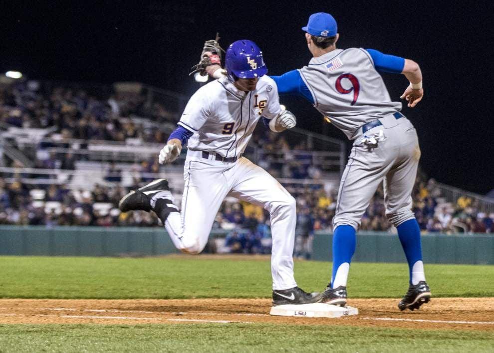 Return of the long ball? Home run powers LSU past Kansas for season-opening win _lowres