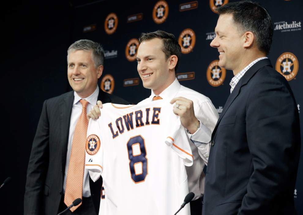 Astros welcome back Jed Lowrie; Dodgers drop Brian Wilson _lowres