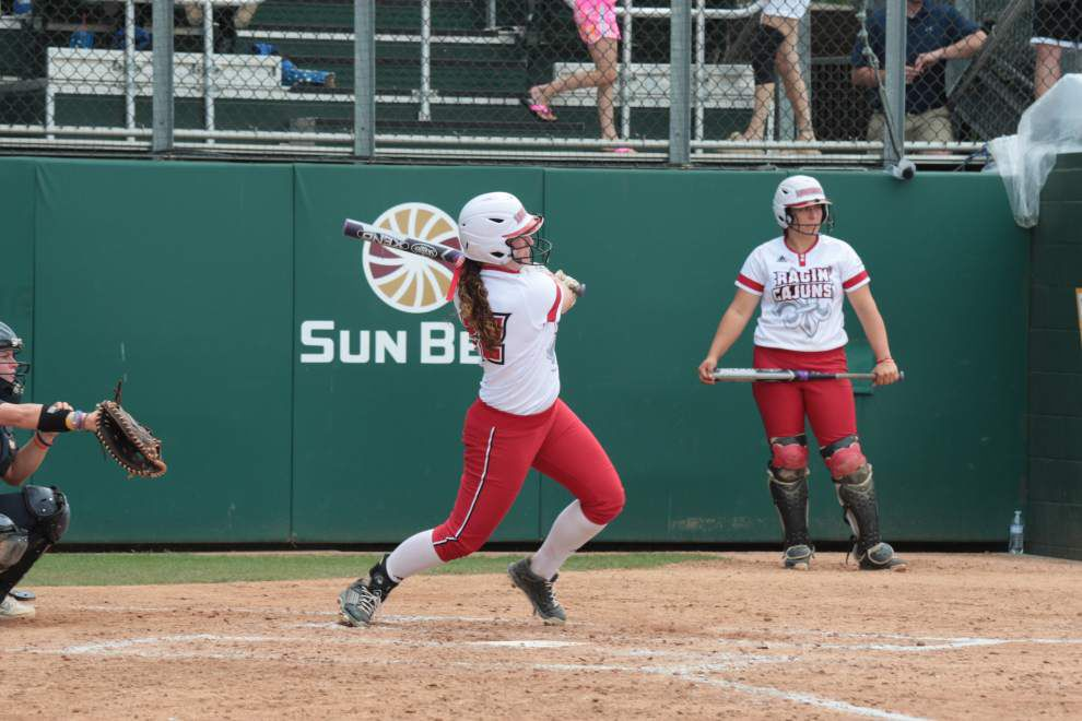 Lexie Elkins, Shellie Landry represent Louisiana-Lafayette softball on All-American teams _lowres