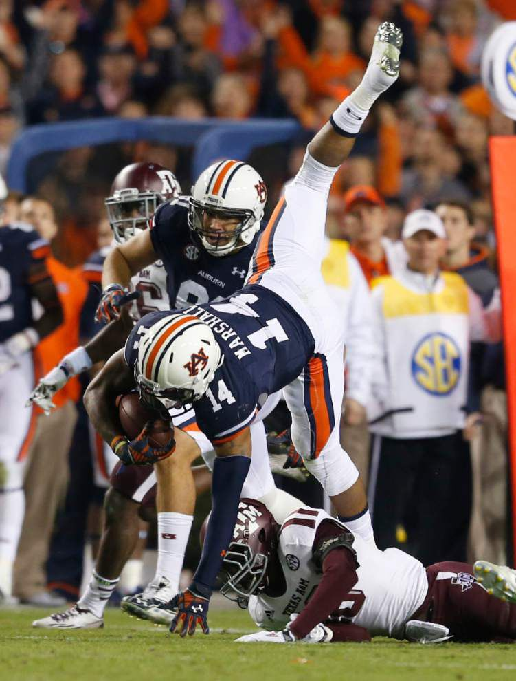 Texas A&M torches Auburn's SEC, playoff hopes _lowres
