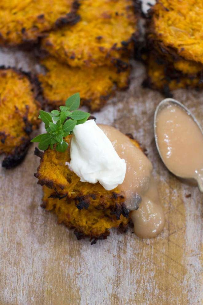 Make sweet potato latkes better with quick boiling water bath _lowres