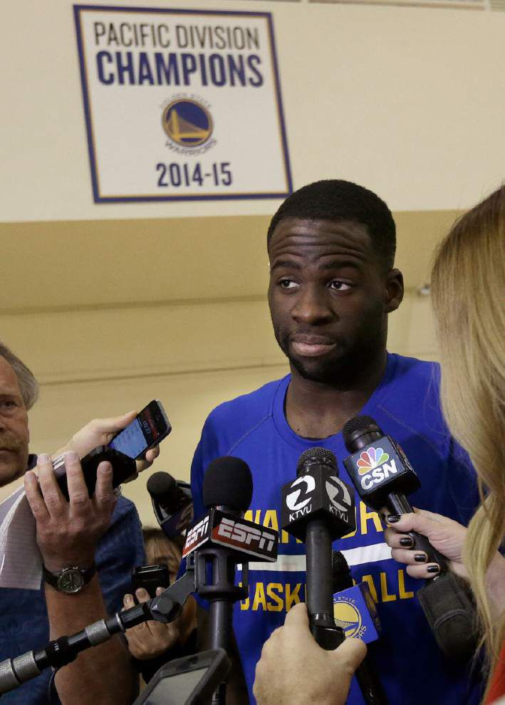 Draymond Green growing into role as Warriors' vocal leader _lowres