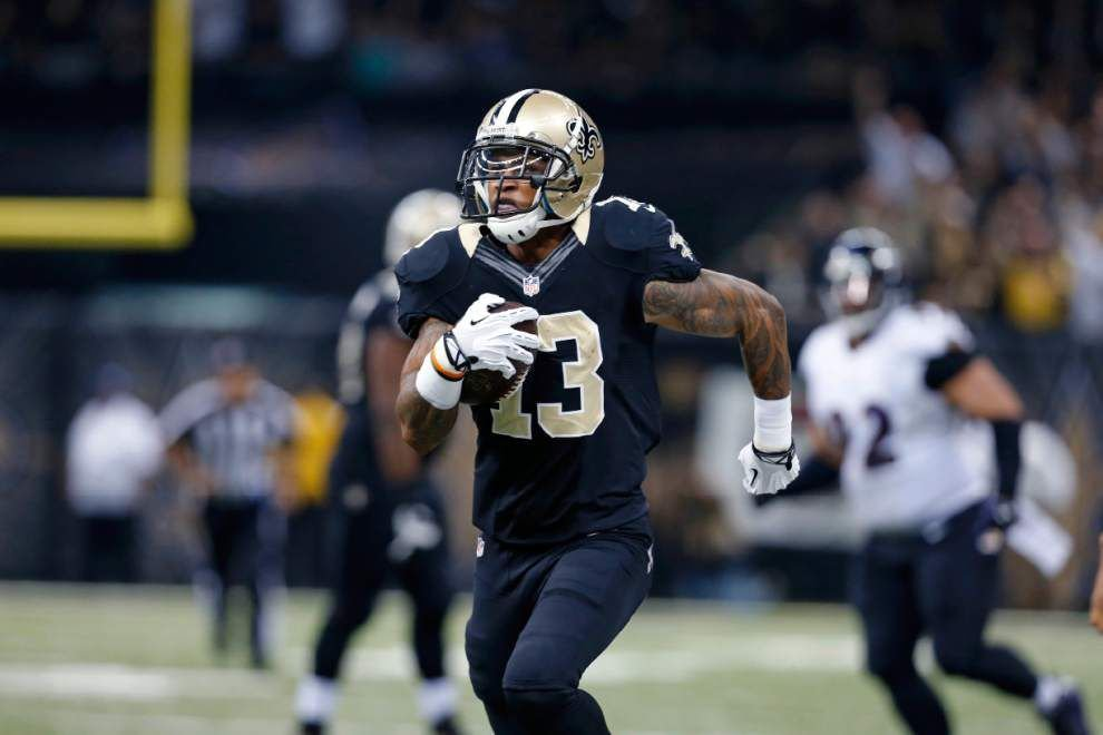 New Orleans Saints receiver Joe Morgan thankful to be able to give the team big plays in its loss to the Baltimore Ravens _lowres