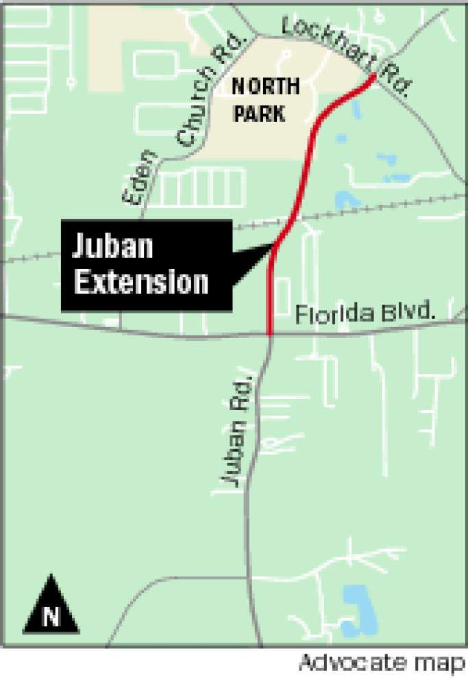 Study: Juban Road extension would impact only 1 home and 1 business _lowres