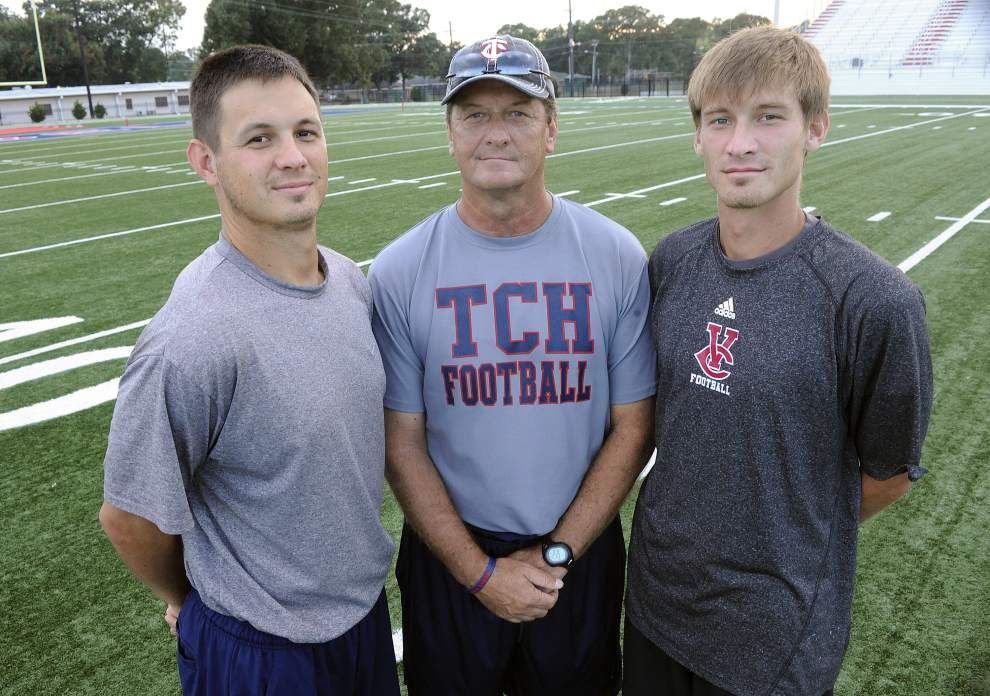 Opelousas Catholic's Dane Charpentier and Loreauville's Trent Delahoussaye carry on family traditions _lowres