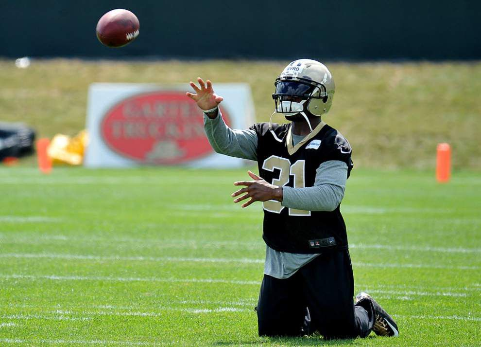 Byrd returns to Saints practice on Tuesday _lowres