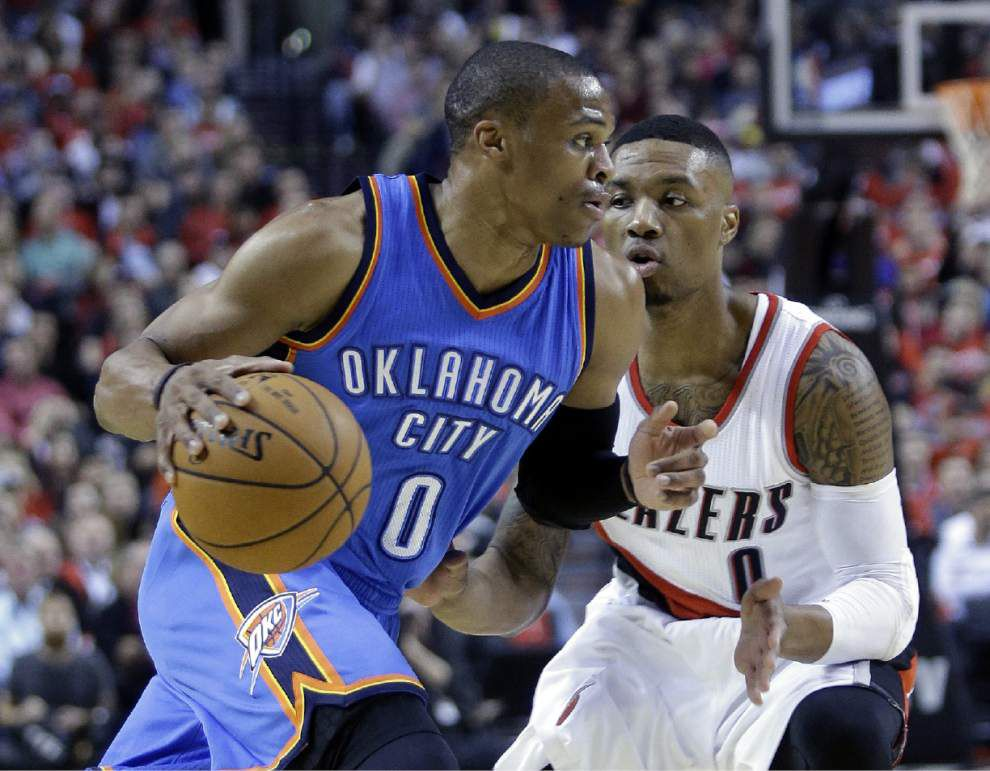 NBA notebook: Thunder's Russell Westbrook is latest star to go down with an injury _lowres