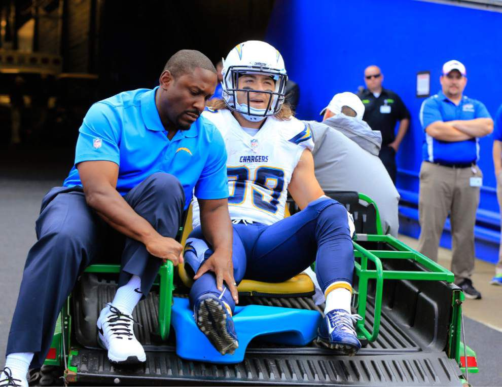 Chargers RB Danny Woodhead out for season _lowres