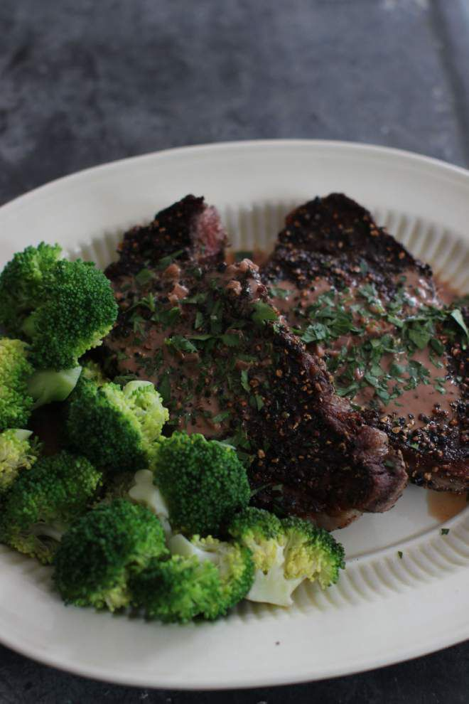 Mastering the art of deglazing a pan with Steak au Poivre _lowres