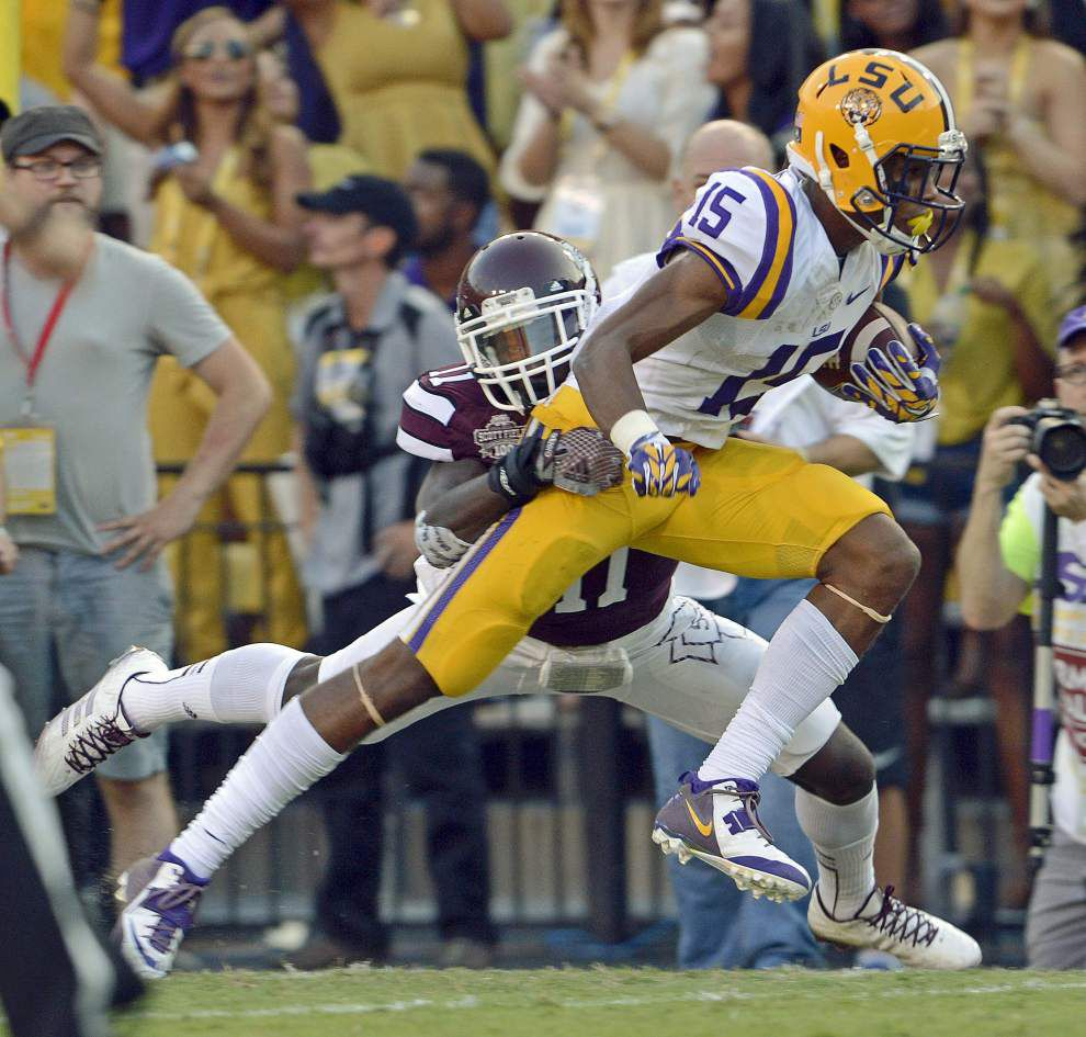 Video: LSU freshman receiver Malachi Dupre is excited about the chances he's getting in the offense _lowres