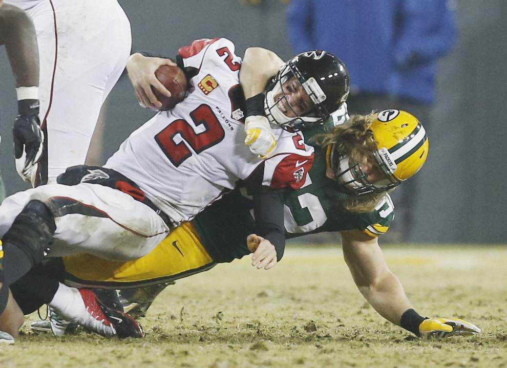 Falcons fall 43-37 at Green Bay, slip back into tie with Saints atop NFC South _lowres