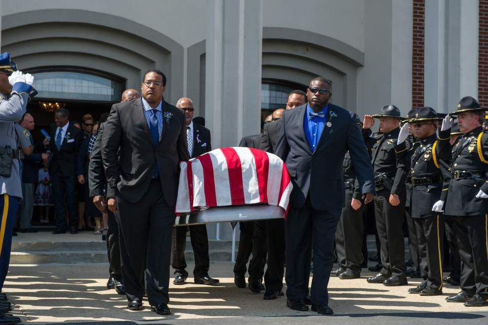 Slain deputy U.S. Marshal Josie Wells' wife shares four special memories of her husband at funeral _lowres