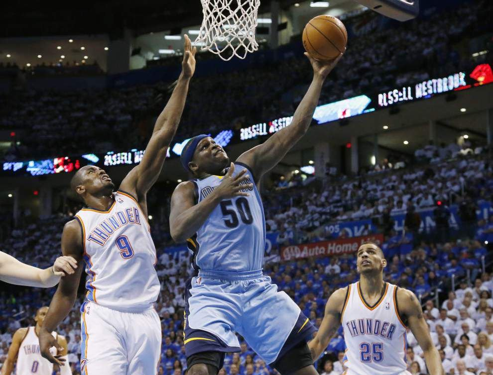 Grizzlies top Thunder to knot series at 1 _lowres