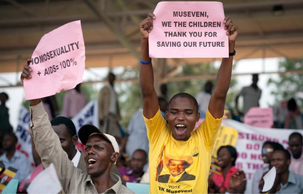 Uganda police raid U.S. project that assisted gays _lowres