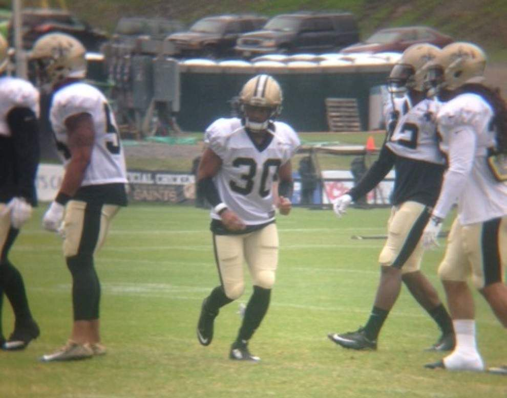 Video: Rainy day, Monday gets Saints' practice down _lowres