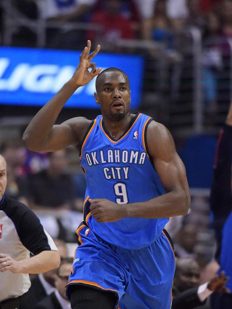 Thunder's Serge Ibaka may be available vs. Spurs _lowres