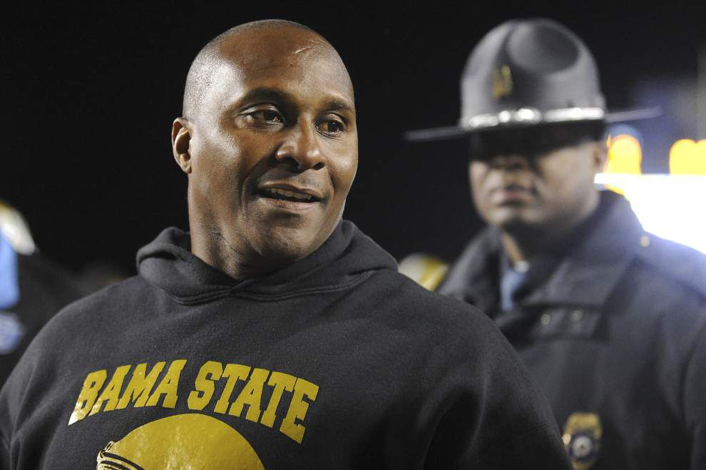 Alabama State fires football coach Reggie Barlow _lowres