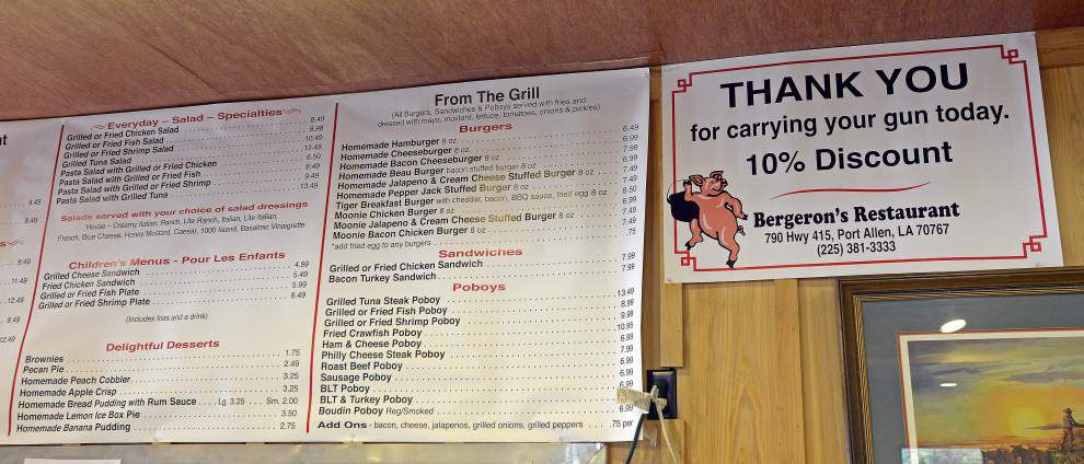 Guns and biscuits: Port Allen eatery offers discount to patrons packing heat _lowres