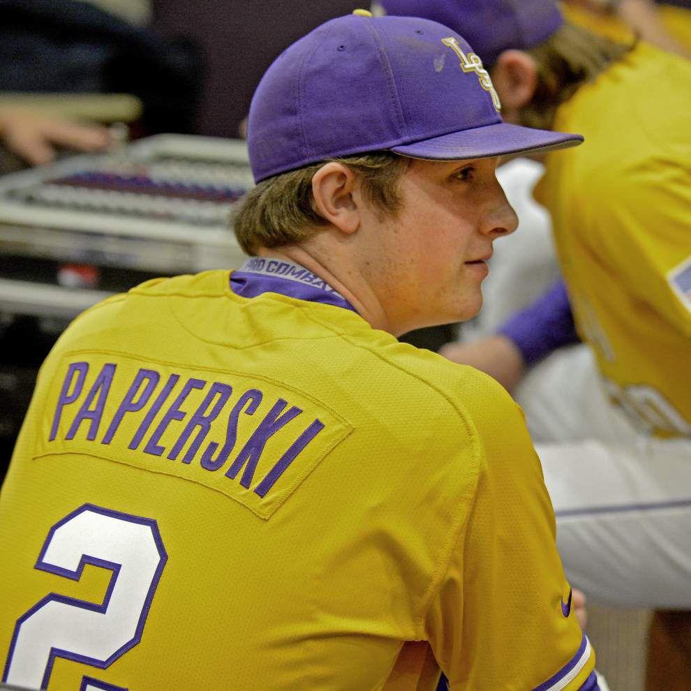 LSU catchers Mike Papierski, Jordan Romero tasked with slowing down explosive Vanderbilt running game _lowres