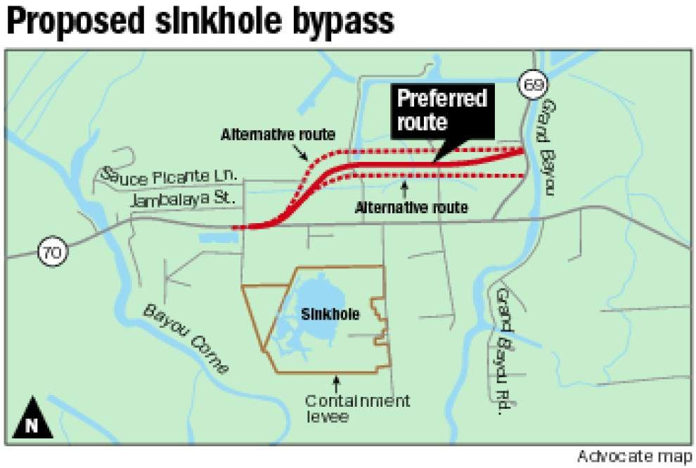 Plans on the table for La. 70 emergency bypass around Bayou Corne sinkhole _lowres