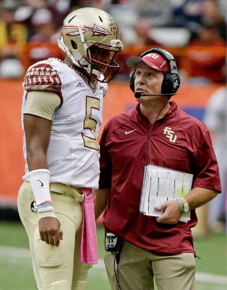 Florida State's Jimbo Fisher says Jameis Winston won't miss any games _lowres