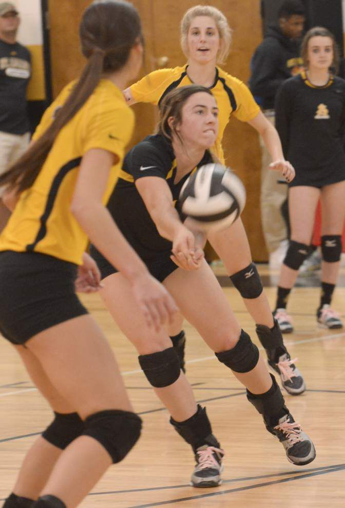 St. Joseph's volleyball team not looking too far ahead _lowres