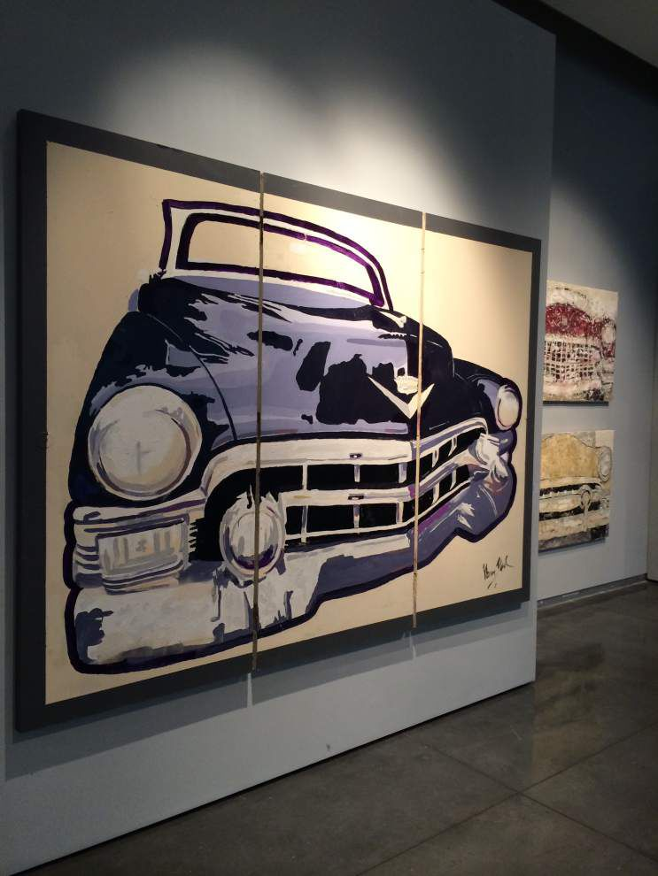 'Vintage' car paintings gallery on display at the Manship Theatre Gallery _lowres