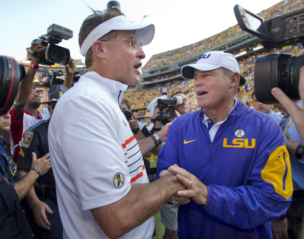 Les Miles and Gus Malzahn