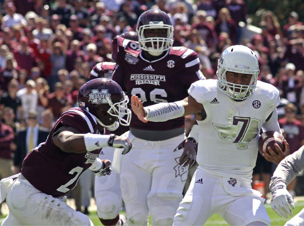 No. 12 Mississippi State smashes Texas A&M 48-31 _lowres