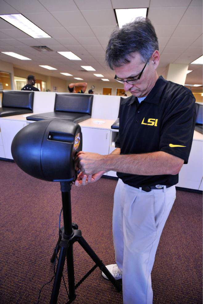 At LSU, high-tech mouthpieces are on guard against football injuries _lowres