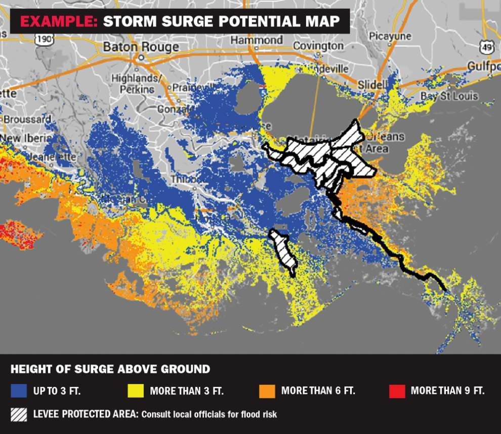 National Weather Map : New wind arrival time storm surge advisories maps to