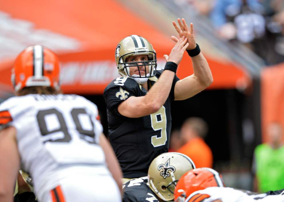 Video: Saints quarterback Drew Brees decides to not to comment on Adrian Peterson case _lowres