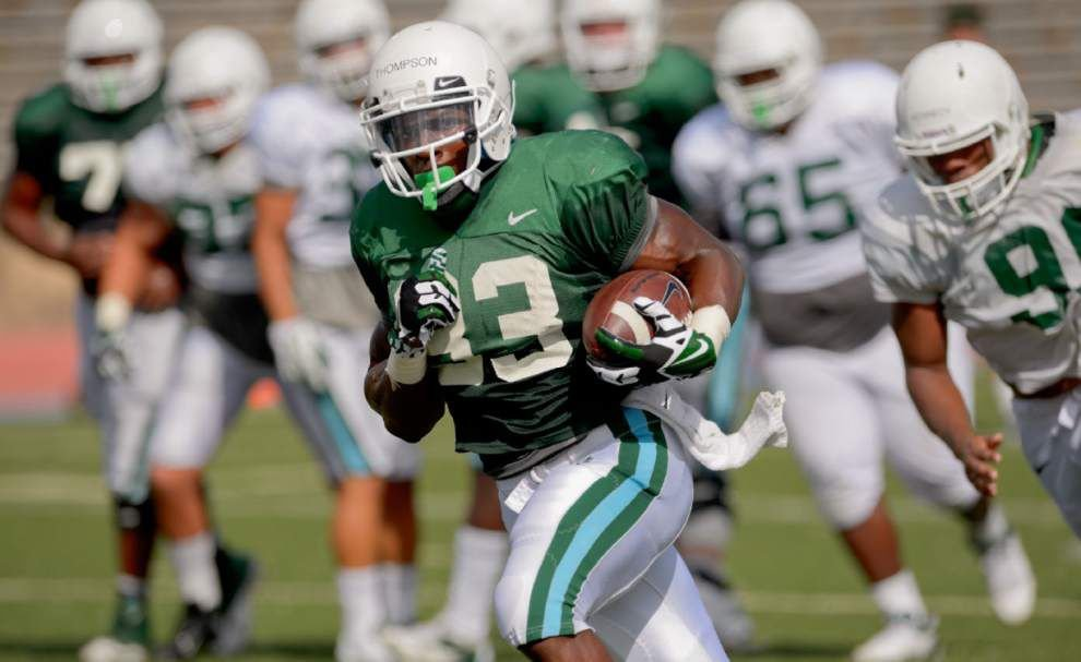 Tulane's Lazedrick Thompson earns praise for tough running style _lowres