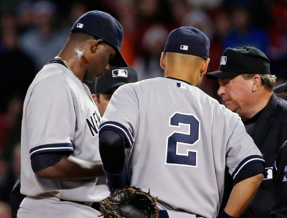 Yankees' Michael Pineda banned 10 games for pine tar _lowres