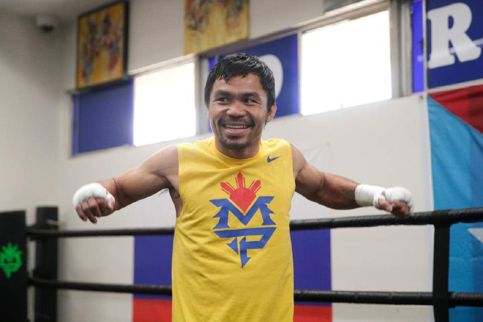 Manny Pacquiao's betting on aggression against Floyd Mayweather _lowres