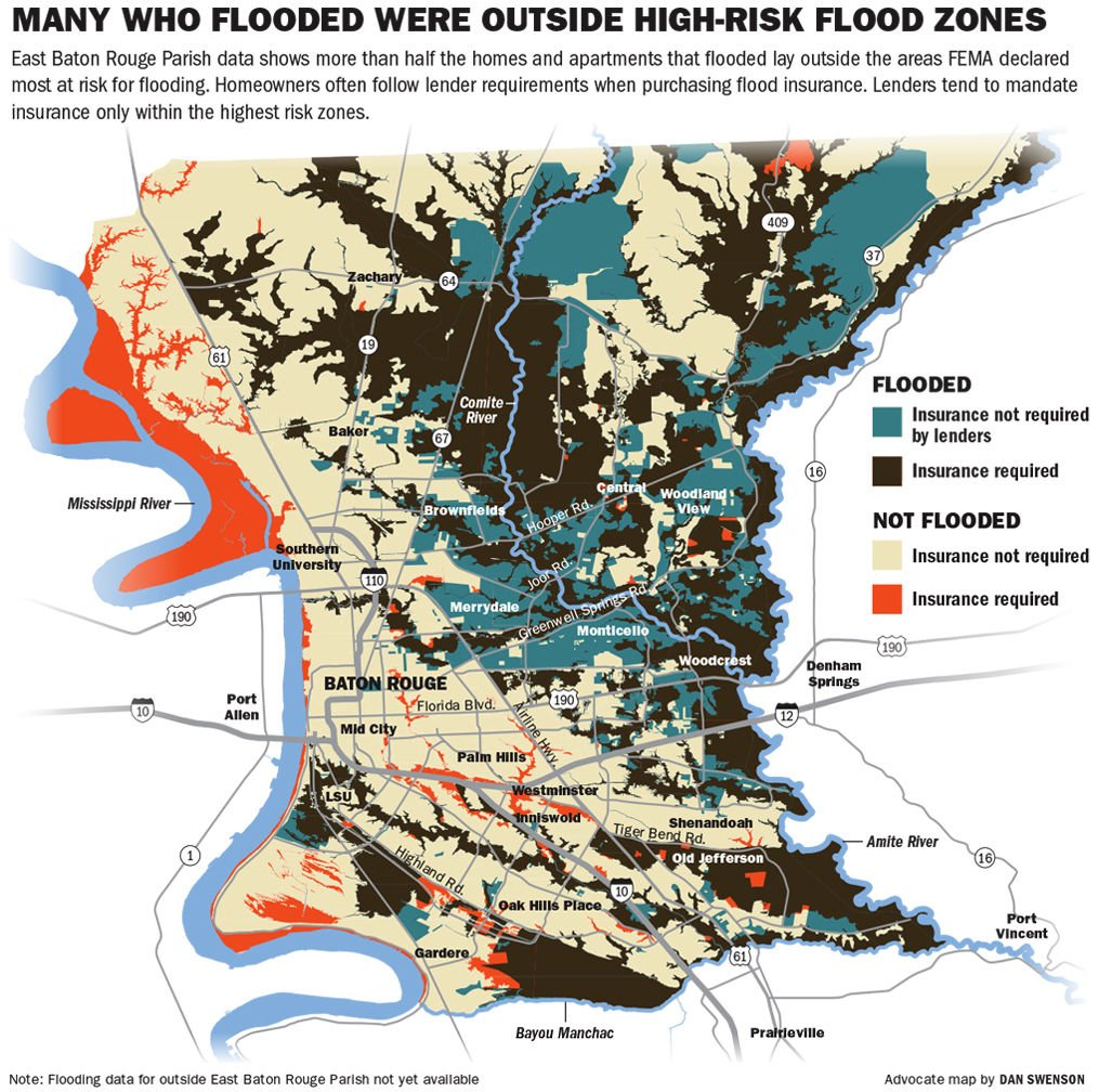 2016 Baton Rouge Flood Map and Flood Insurance Map