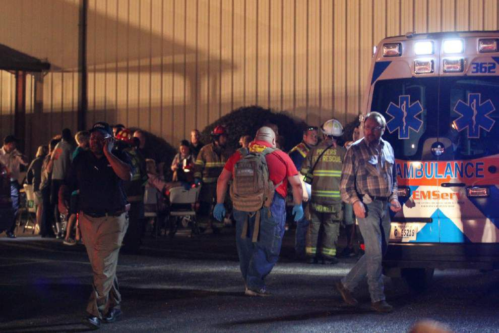 Floor collapse at Miss. church center leaves 35 hurt _lowres