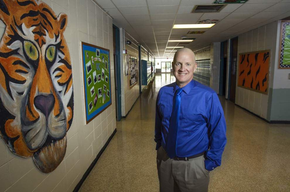 Principal Patrick Mackin of Slidell Junior High named the state junior high Principal of the Year _lowres