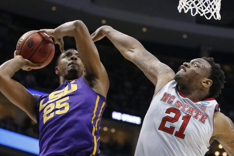 LSU forward Jordan Mickey and his dad say he has not made an NBA draft decision _lowres