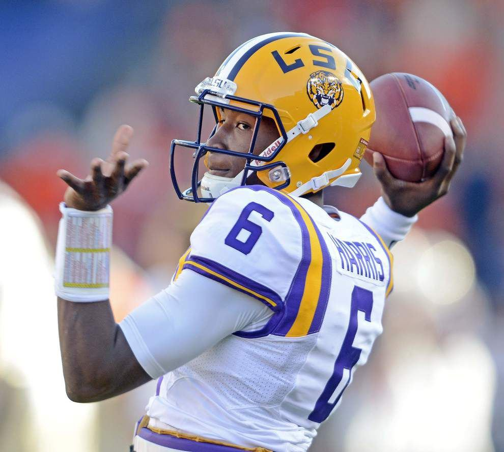 High school coach of LSU quarterback Brandon Harris told him to leave Tigers _lowres