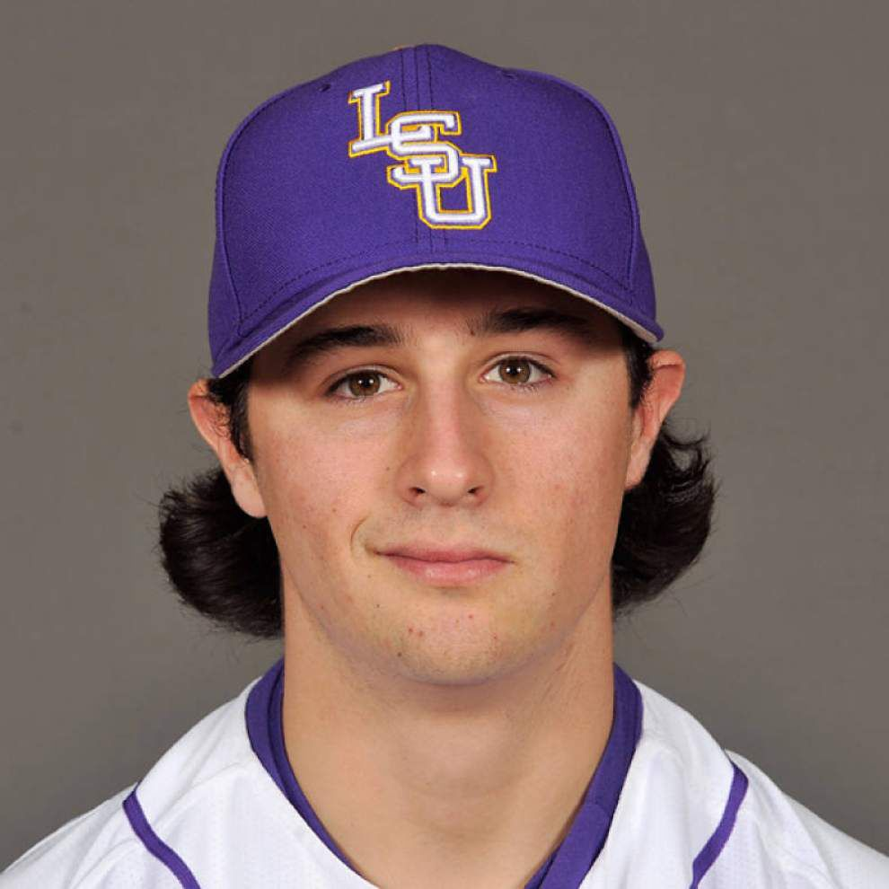 Something different: Pitcher Collin Strall gives LSU baseball first sidearm slinger in 10 years _lowres