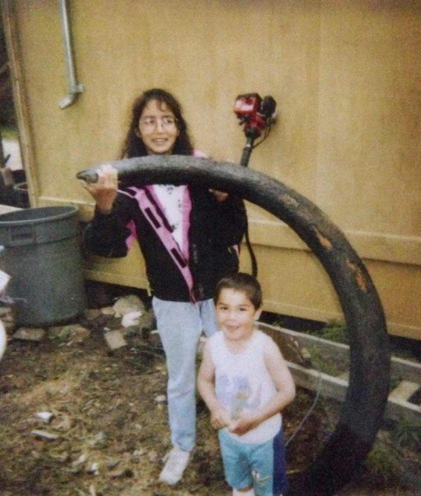 Mom, son find wooly mammoth tusks 22 years apart _lowres
