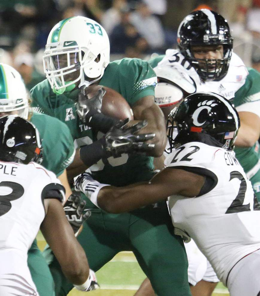 Tulane turns to running back Lazedrick Thompson to try to hammer away at Maine _lowres