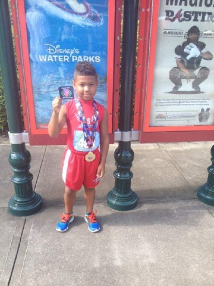 Dutchtown first-grader wins the gold at national track, field meet in Florida _lowres