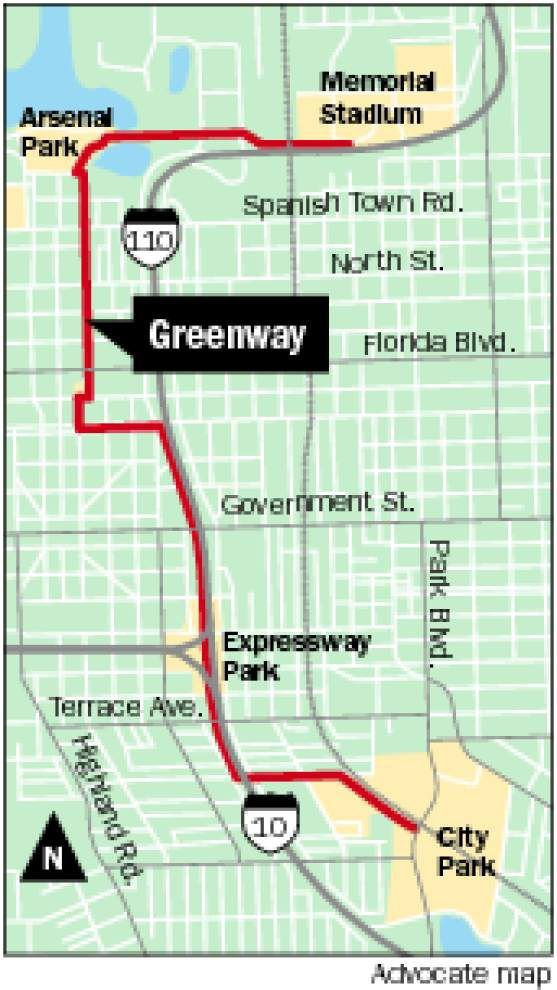 Baton Rouge officials dedicate first phase of Downtown Greenway _lowres