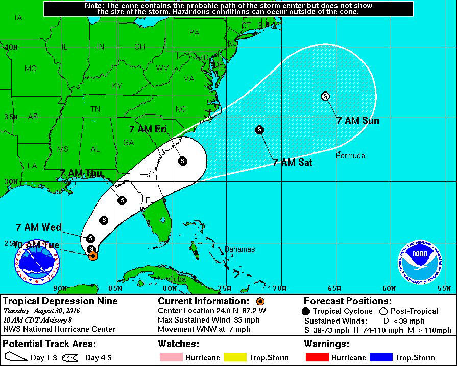 Tropical Depression 9 See Forecast Track Current