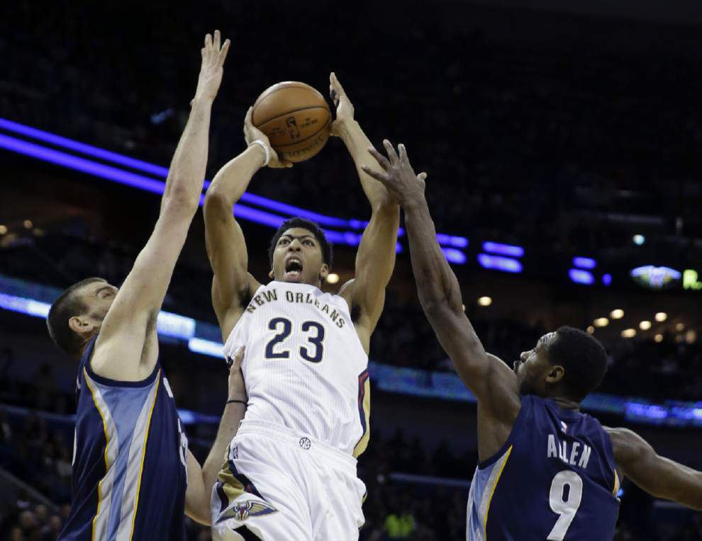 Video: Pelicans forward Anthony Davis says he and his teammates were prepared for a tough game in win against Memphis _lowres
